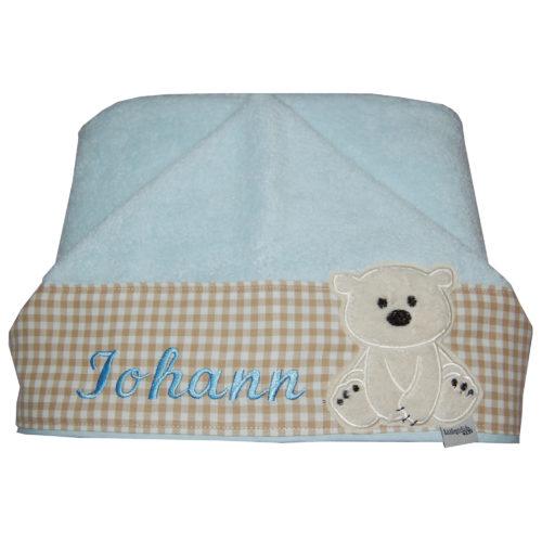 Lieblingsstücke Babyhandtuch mit Kapuze und Namen