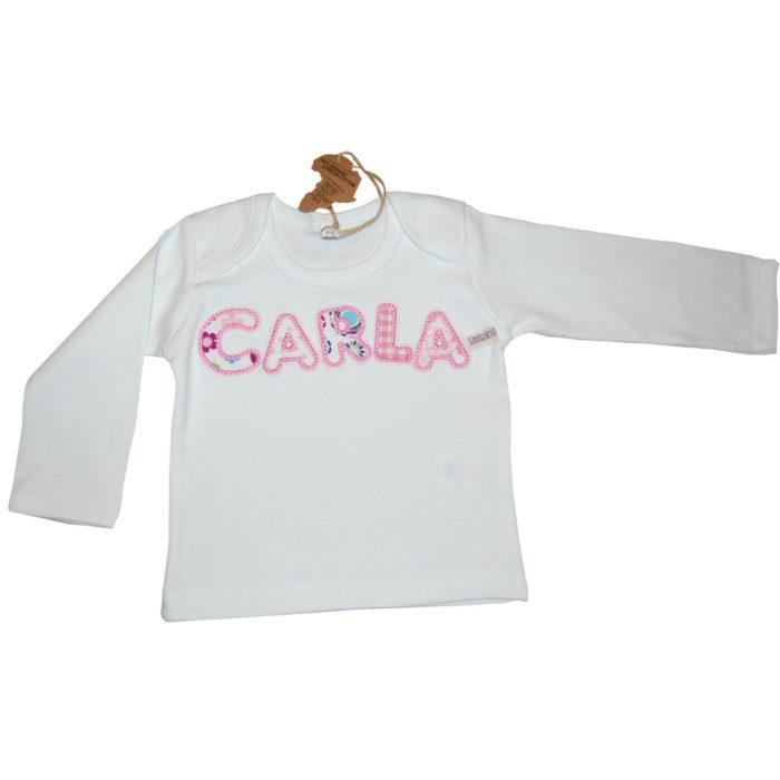 Shirt mit Namen aus Stoffbuchstaben Lieblingsstücke