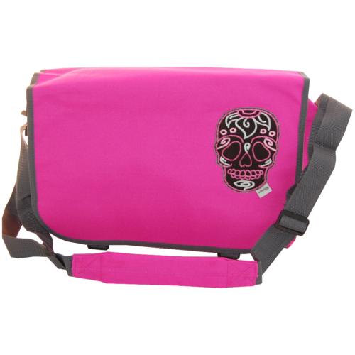 Tasche Totenkopf in pink von Lieblingsstücke