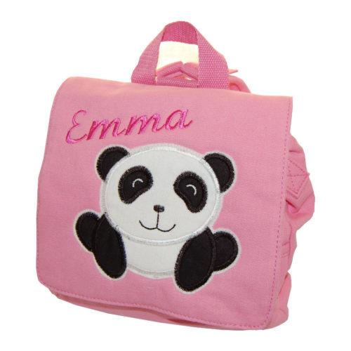 Kindergartentasche mit Panda und Namen von Lieblingsstücke