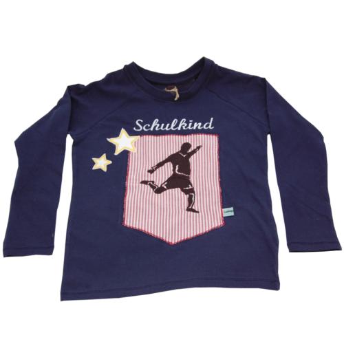 Lieblingsstücke Shirt Schulkind mit Fußballer und Sterne