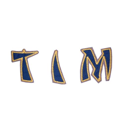 Ninja Stoffbuchstaben blau gold LIeblingsstücke