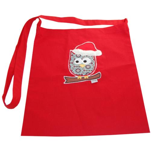 Tasche Weihnachtseule Stoffbeutel von Lieblingsstücke