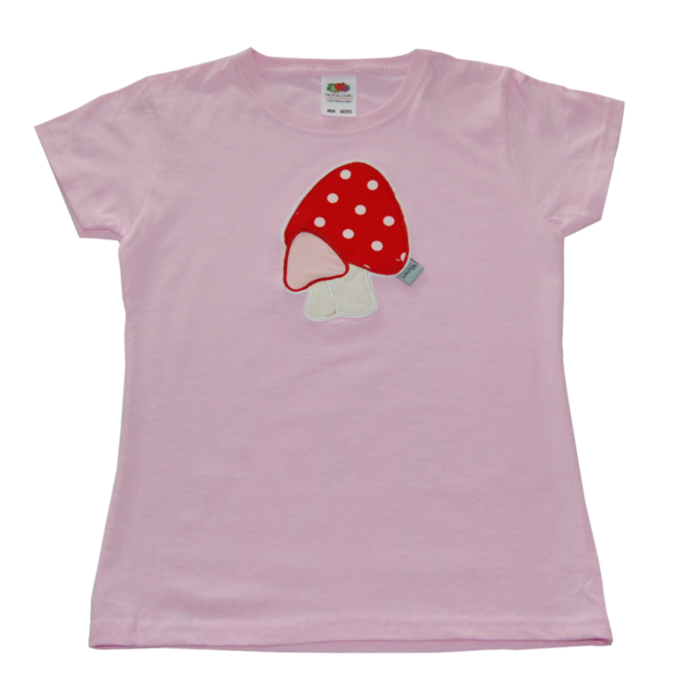T-Shirt mit Pilzen von Lieblingsstücke 4330 in rosa