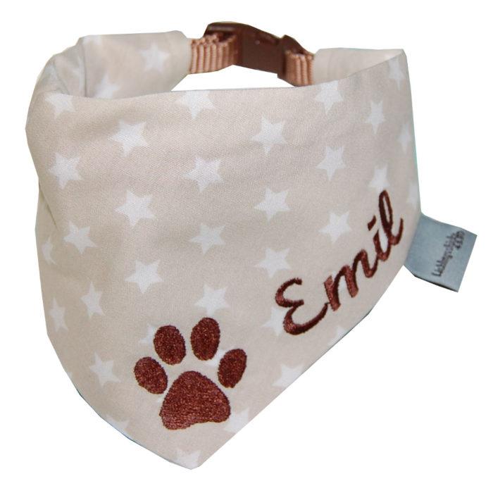 Hundehalsband mit Namen und Stickerei