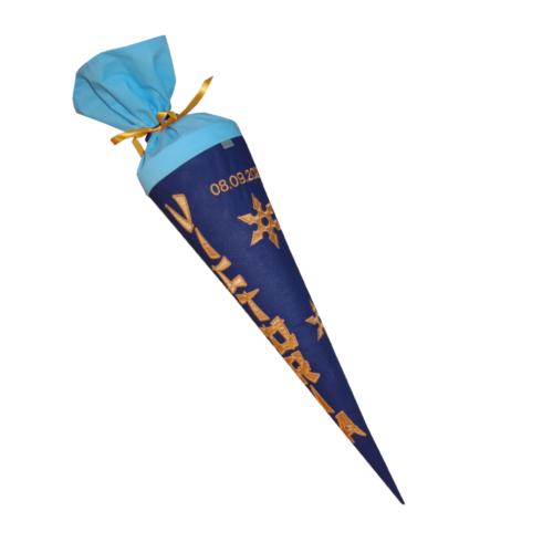 Ninja Zuckertüte mit Wurfsternen und Namen von Lieblingsstücke 4330